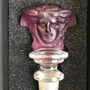 Versace x Rosenthal frosted crystal wine stopper